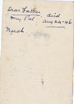 Norah Jones' inscription on reverse of Lewis Jones photograph | Norah Jones