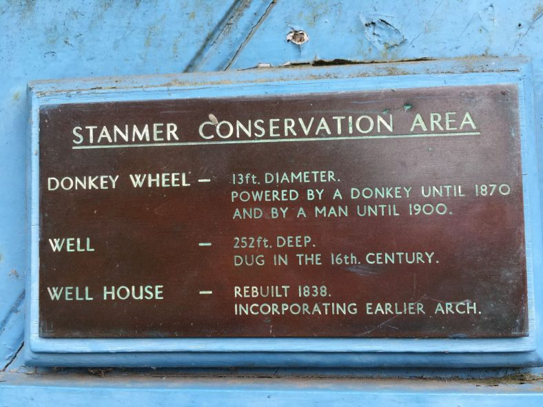 Stanmer village well note page