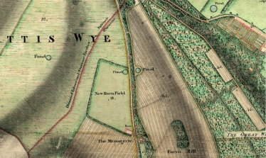 Coldean Lane Figg map. The dugouts were well hiden to protect specialist Home Guard demolition experts in dire times.