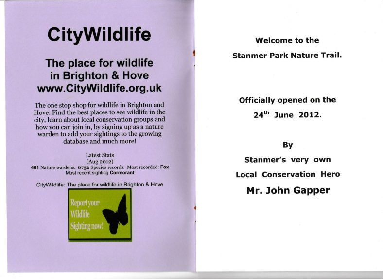 Stanmer's Big Lottery Funded Nature Trail